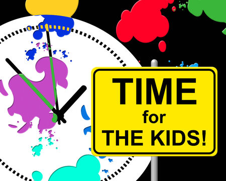 Time For Kids Meaning Just Now And Childhood