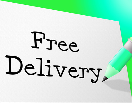 Free Delivery Indicating With Our Compliments And Freebie