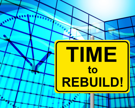 Time To Rebuild Indicating Right Now And Restore