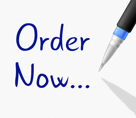 Order Now Indicating At The Moment And Book