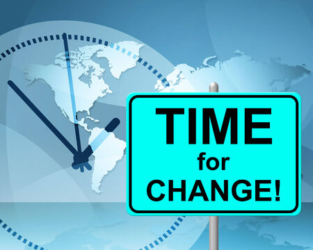 Time For Change Representing At Present And Changing