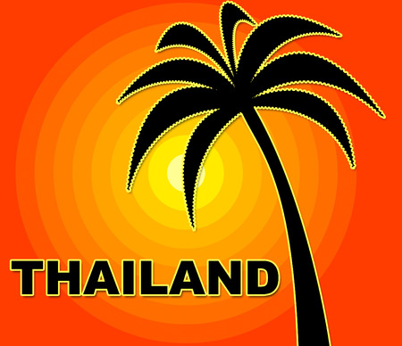 Thailand Holiday Representing Go On Leave And Vacational Siam
