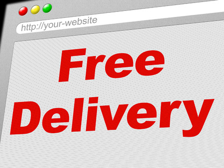 Free Delivery Showing With Our Compliments And Gratis