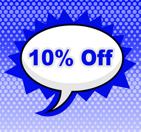 Ten Percent Off Showing Advertisement Sale And Promotion
