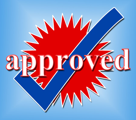Approved Tick Showing Confirm Passed And Ok