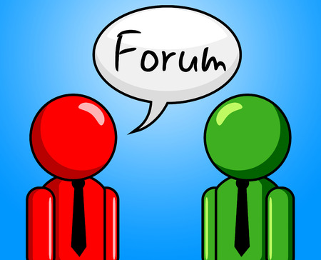 Online Forum Indicating Social Media And Conference