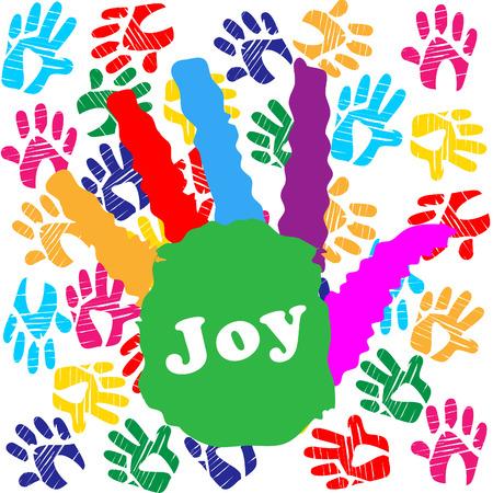 Kids Joy Showing Drawing Colourful And Joyful
