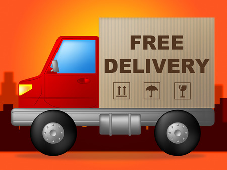 Free Delivery Indicating With Our Compliments And No Cost