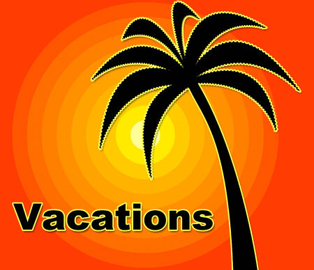 Summer Vacations Meaning Holidays Summertime And Hot