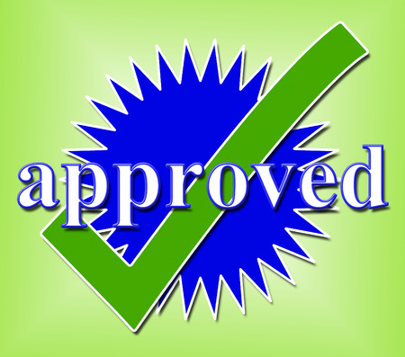 Approved Tick Representing Passed Pass And Approval