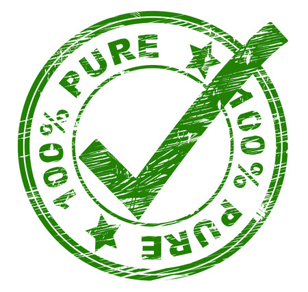 Hundred Percent Pure Indicating All Right And Approved