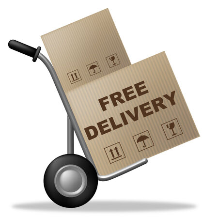 Free Delivery Indicating With Our Compliments And For Nothing