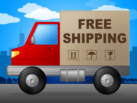 Free Shipping Indicating Without Charge And Handout