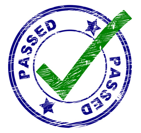 Passed Stamp Showing All Right And Affirm
