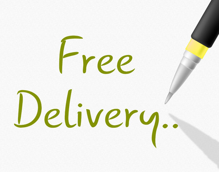 Free Delivery Indicating With Our Compliments And Gratis