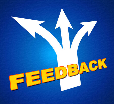 Feedback Arrows Representing Response Satisfaction And Pointing