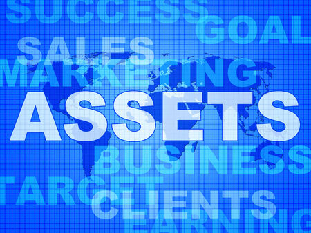 Assets Words Representing Capital Valuables And Wealth