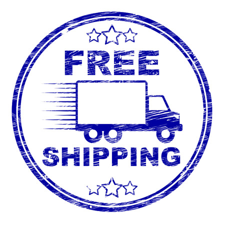 Free Shipping Stamp Indicating With Our Compliments And Gratis