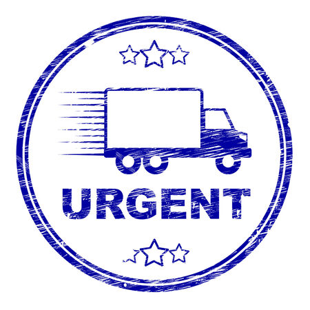 Urgent Delivery Stamp Representing Instant Desperate And Priority