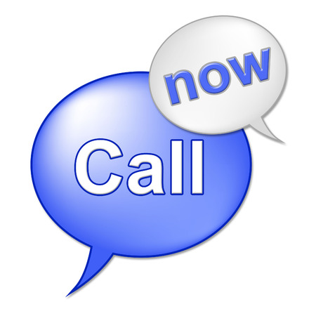 Call Now Sign Showing At The Moment And Contact