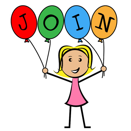 Join Balloons Showing Sign Up And Kids