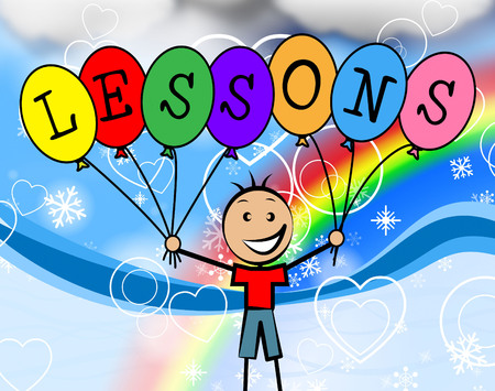 Lessons Balloons Showing Childhood Kids And Develop