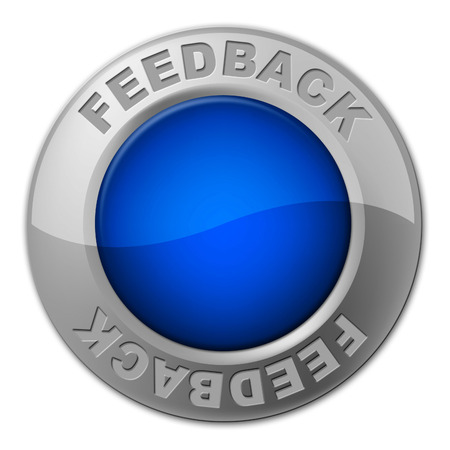 Feedback Button Representing Opinion Evaluation And Surveying