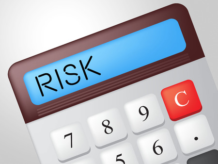 Risk Calculator Showing Unsteady Crisis And Risky