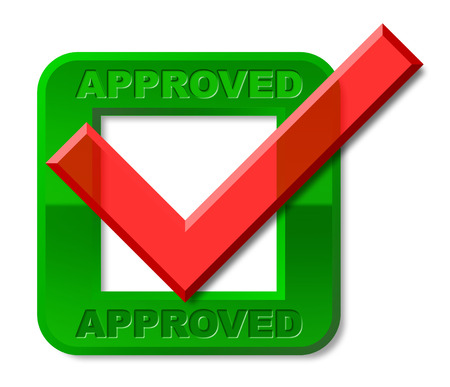 Approved Tick Indicating Checkmark Pass And Yes