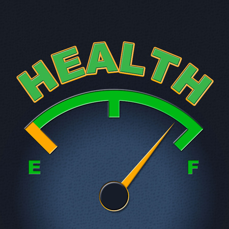 Health Gauge Representing Preventive Medicine And Medical