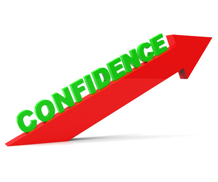 Increase Confidence Representing Arrow Up And Gain