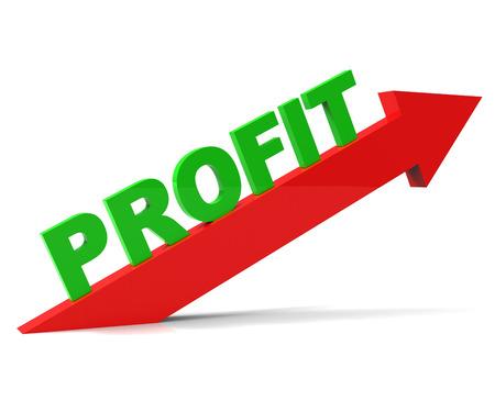 Increase Profit Indicating Profitable Upwards And Progress