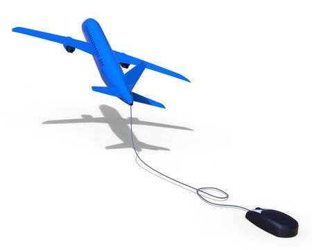Online Flights Representing World Wide Web And Website