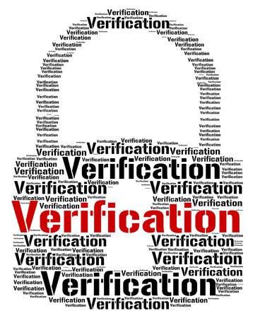 Verification Lock wordcloud