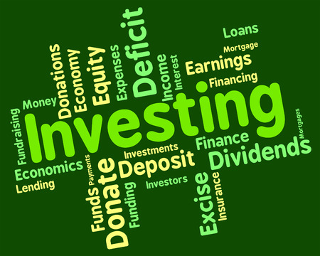 Investing Word Indicating Return On Investment And Investments Invests