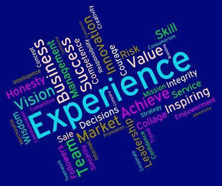 Experience Words wordcloud
