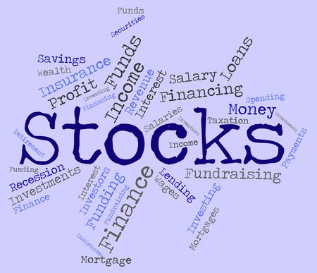 Stocks Word Representing Return On Investment And Buy In