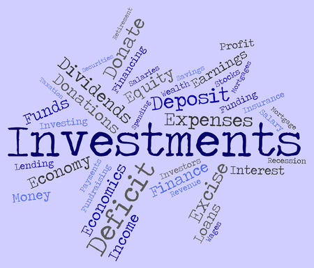 Investments Word Showing Shares Wordcloud And Portfolio