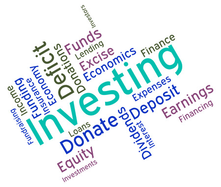 Investing Word Representing Return On Investment And Opportunity Text