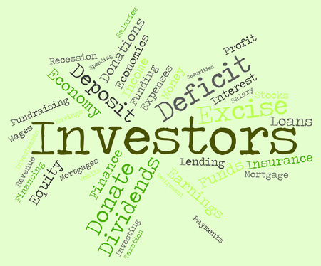Investors Word Indicating Return On Investment And Shares Investment