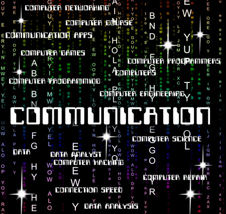 Communication Word Meaning Text Communicating And Chat