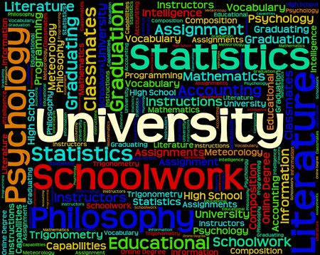 University Word Indicating School Text And Polytechnic