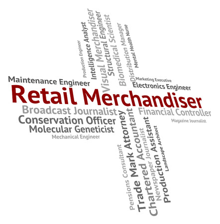 Retail Merchandiser Indicating Employment Promotion And Marketing