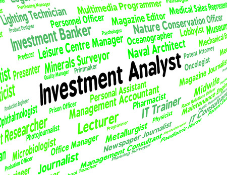 Investment Analyst Representing Analysis Opportunity And Recruitment