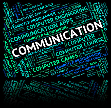Communication Word Representing Communicate Conversation And Network