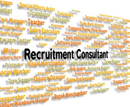 Recruitment Consultant Indicating Specialist Guide And Consultation
