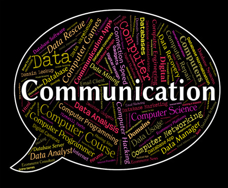 Communication Word Meaning Chat Networking And Discussion
