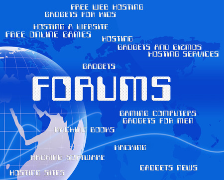 Forums Word Indicating Social Media And Website