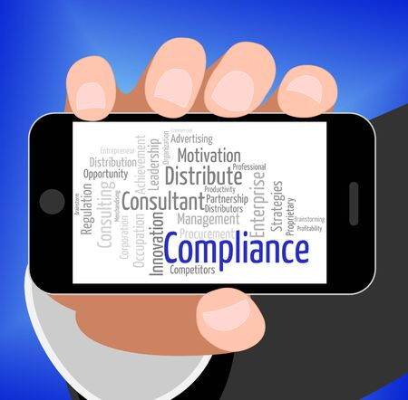 Compliance Word Indicating Agree To And Guidelines