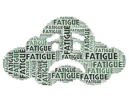 Fatigue Word Representing Lack Of Energy And Tired Exhausted